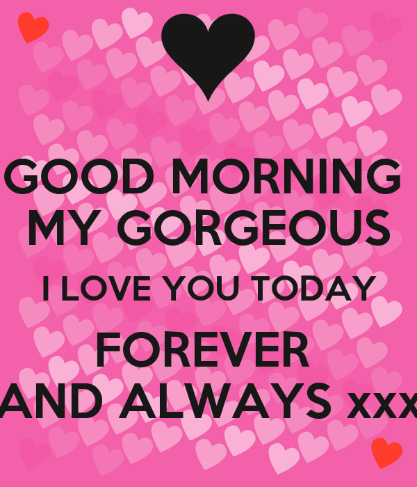 Good Morning My Love Lovingyou : Good morning my gorgeous i love you today forever and