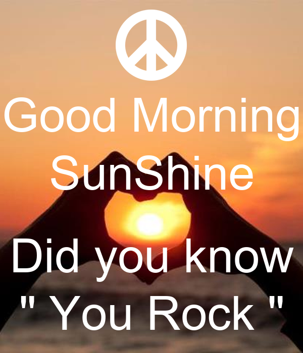 Good Morning Sunshine Quasimoto : Good morning sunshine did you know quot rock poster