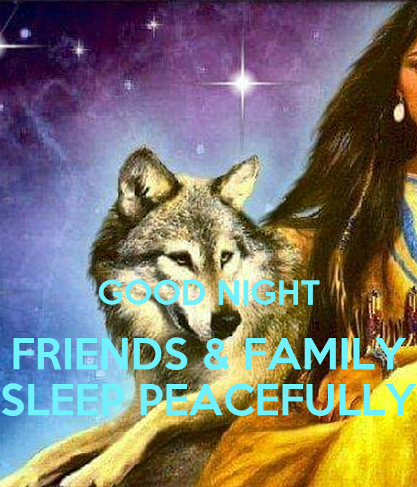 Good Night Friends Family Sleep Peacefully Poster Wendyjordan904