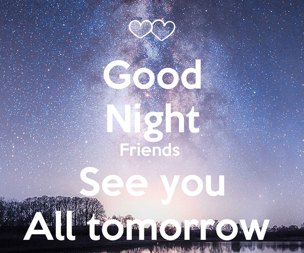 Good Night Friends See You All Tomorrow Poster Adss Keep
