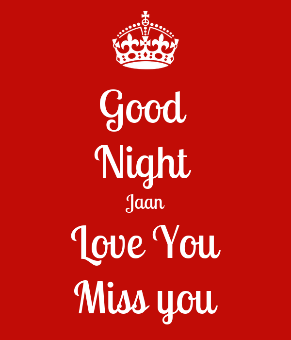 Good Night Jaan Love You Miss You Poster Angel Keep Calm O Matic