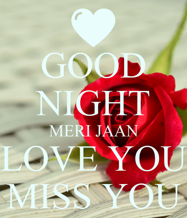 Good Night Meri Jaan Love You Miss You Poster Aisha Keep Calm O