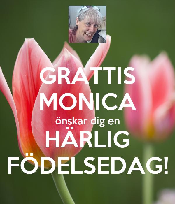 grattis monica GRATTIS MONICA önskar dig en HÄRLIG FÖDELSEDAG! Poster | Gerlinde  grattis monica