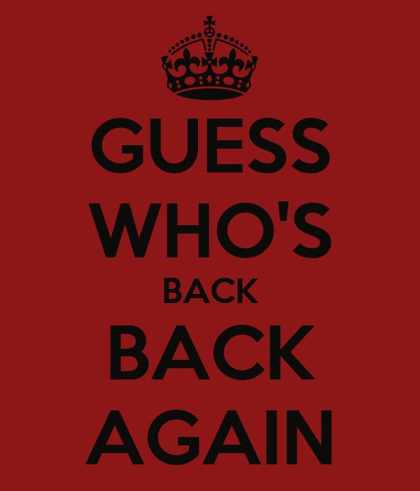 GUESS WHO'S BACK BACK AGAIN Poster | EMINEM | Keep Calm-o ...