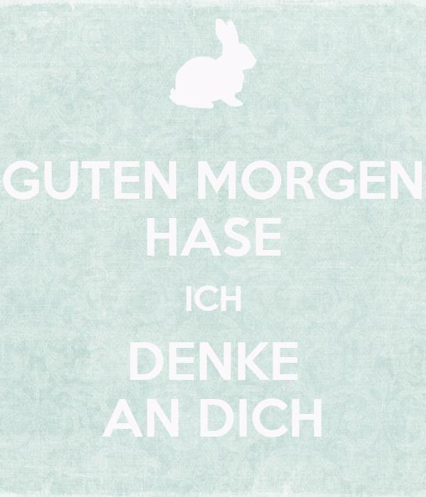 Guten Morgen Hase Ich Denke An Dich Poster Deine Maus