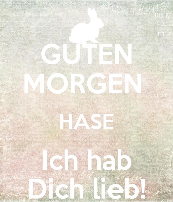 Guten Morgen Hase Ich Hab Dich Lieb Poster Deine Maus