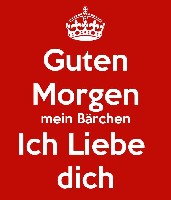 Guten Morgen Mein Bärchen Ich Liebe Dich Poster Karlq