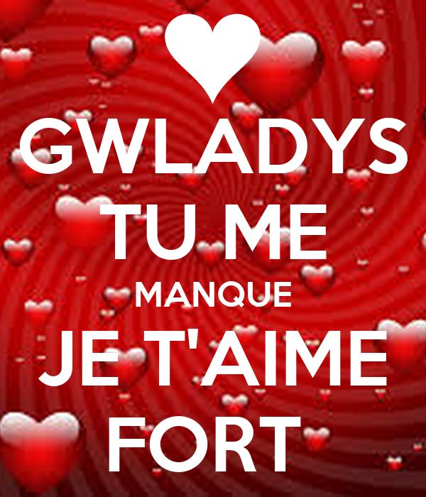 Gwladys Tu Me Manque Je Taime Fort Poster Thomas Keep