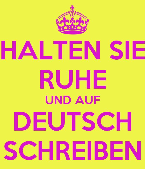 what auf deutsch