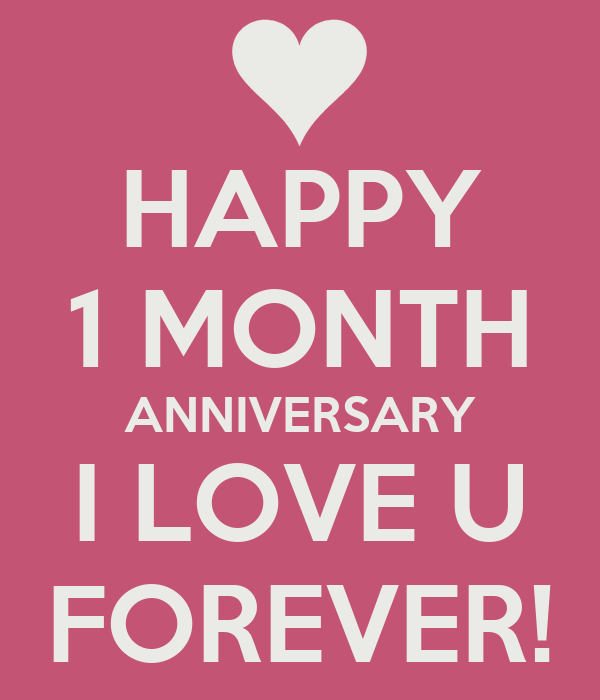 Happy 1 Month Anniversary I Love U Forever Poster Ysjh