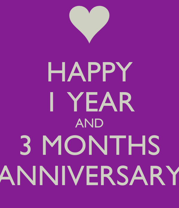 Happy year and months anniversary poster jc keep