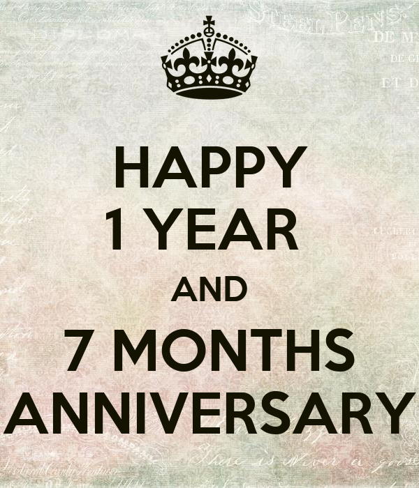 happy 1 year and 7 months anniversary poster ruch keep calm o matic