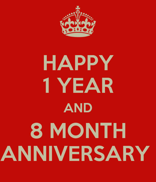 Happy year and month anniversary keep calm carry