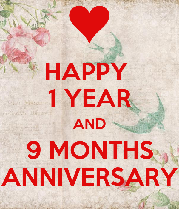 Happy year and months anniversary poster