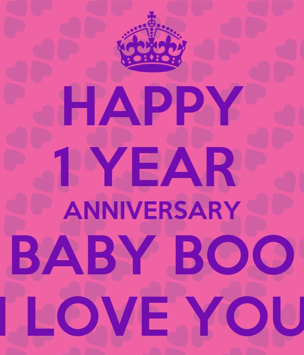 happy 1 year anniversary baby