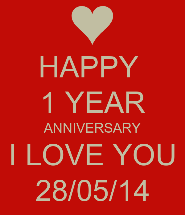 Happy year anniversary i love you poster ccc