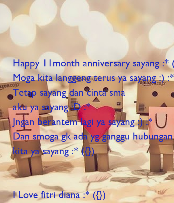 Happy month anniversary sayang moga kita