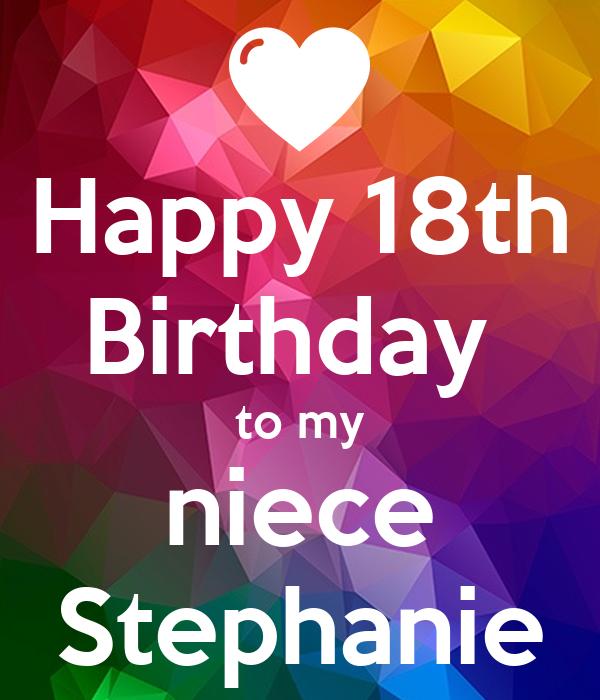 Wondrous Happy 18Th Birthday To My Niece Stephanie Poster Your Tia Funny Birthday Cards Online Elaedamsfinfo