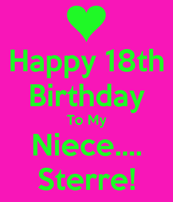 Superb Happy 18Th Birthday To My Niece Sterre Poster Gaby Keep Funny Birthday Cards Online Alyptdamsfinfo