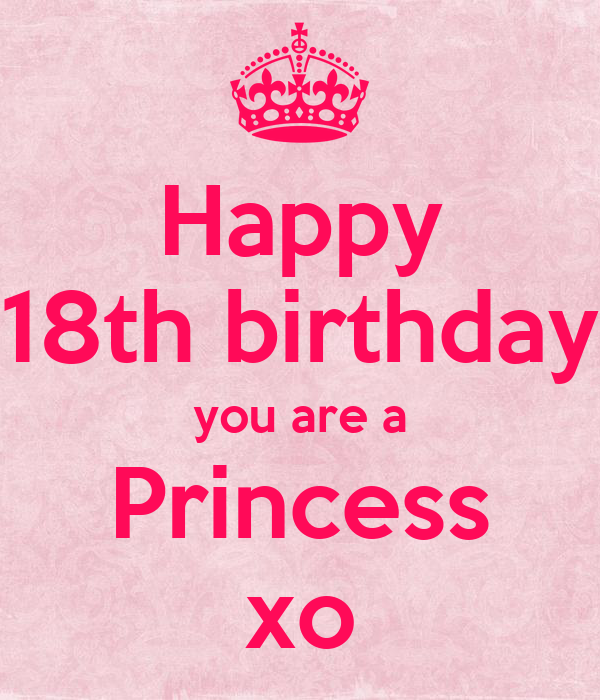 Happy 18th birthday you are a Princess xo Poster ...