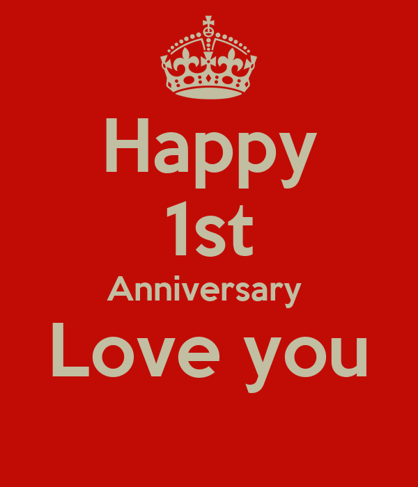 Happy st anniversary love you poster shaun keep calm