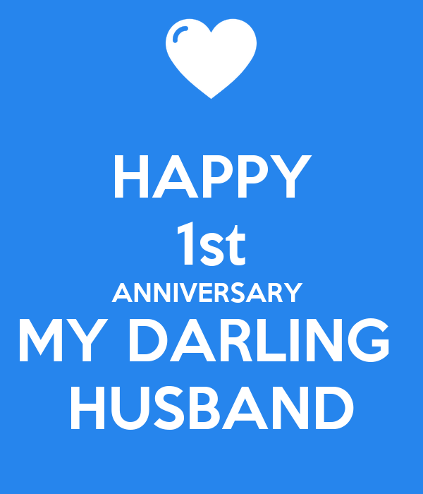 Happy st anniversary my darling husband poster lolly