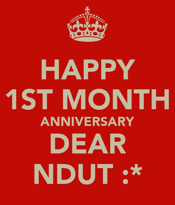 Happy st month anniversary dear ndut poster