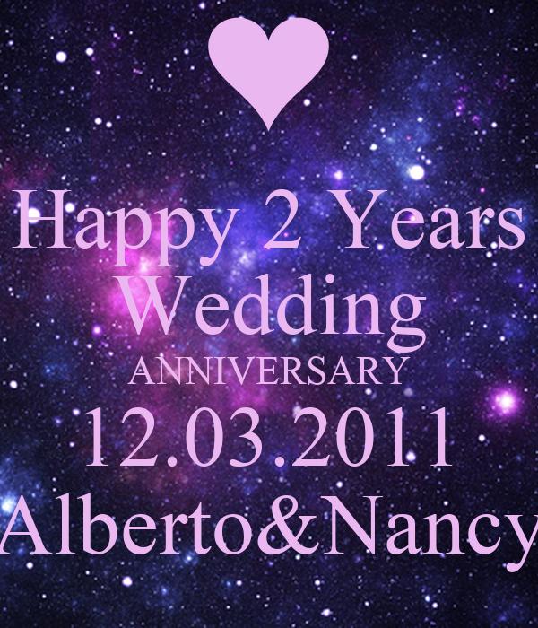 Happy 2 Years Wedding Anniversary Alberto Nancy