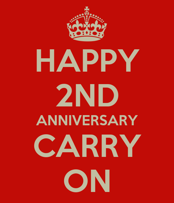 Happy nd anniversary carry on poster keep calm o matic