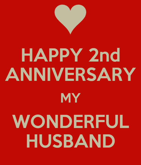 happy 2nd anniversary husband images