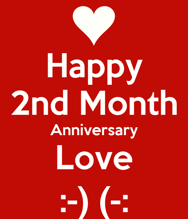 Happy nd month anniversary love poster icy