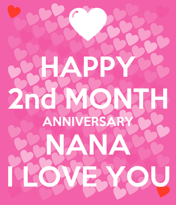 HAPPY 2nd MONTH ANNIVERSARY NANA I LOVE YOU Poster