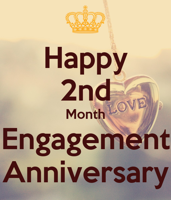 Happy 2nd Month Engagement Anniversary Poster