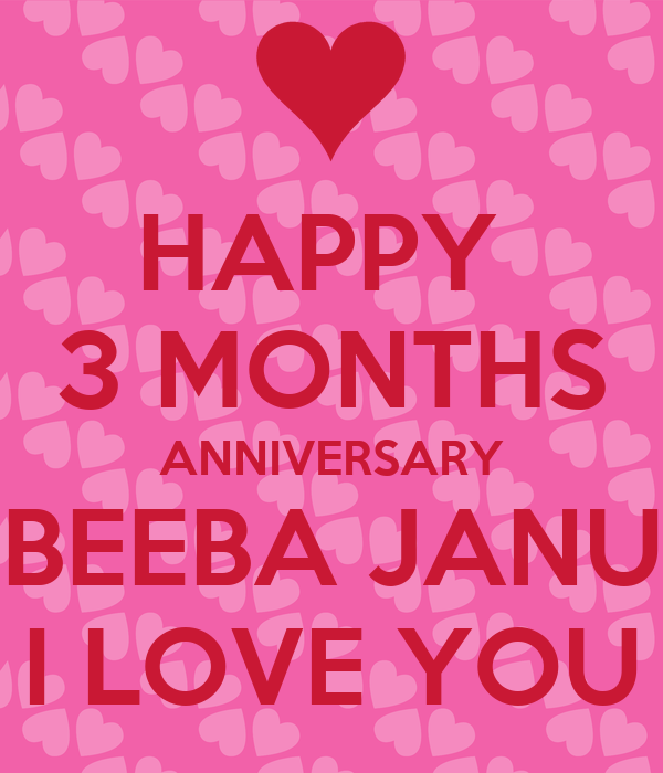 Love You Janu Wallpaper : HAPPY 3 MONTHS ANNIVERSARY BEEBA JANU I LOVE YOU Poster Shoaib Keep calm-o-Matic