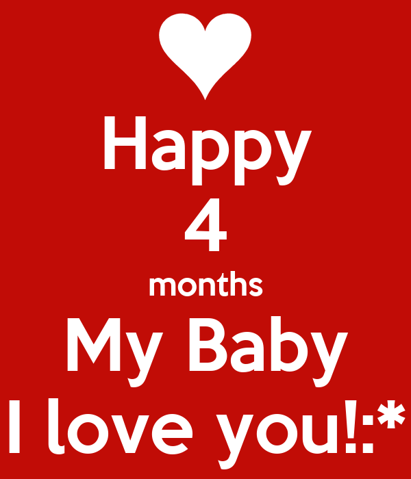 Happy 4 Months My Baby I Love You Poster Mishell Keep Calm O