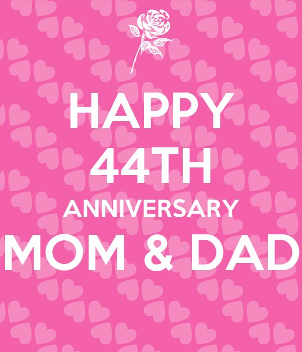 Happy th anniversary mom dad poster brandy keep