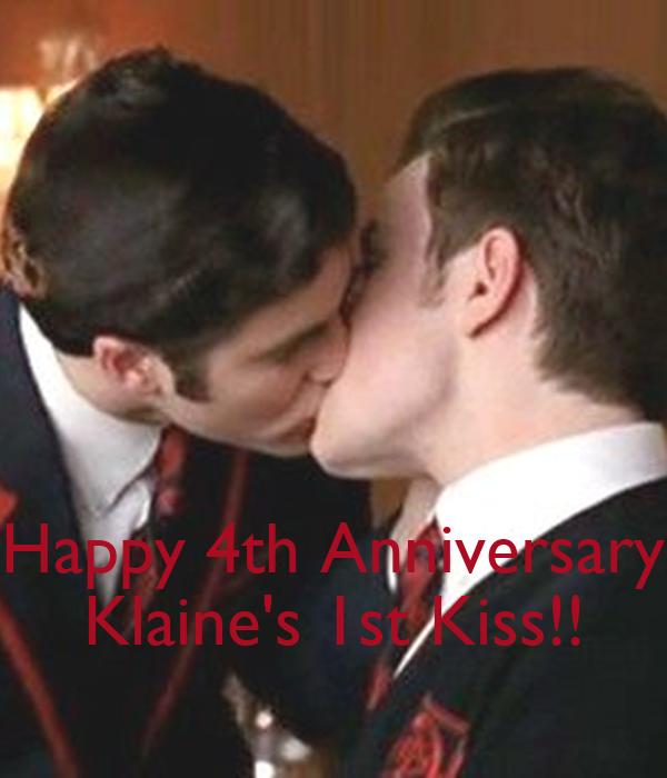 Happy th anniversary klaine s st kiss poster tina keep calm o matic