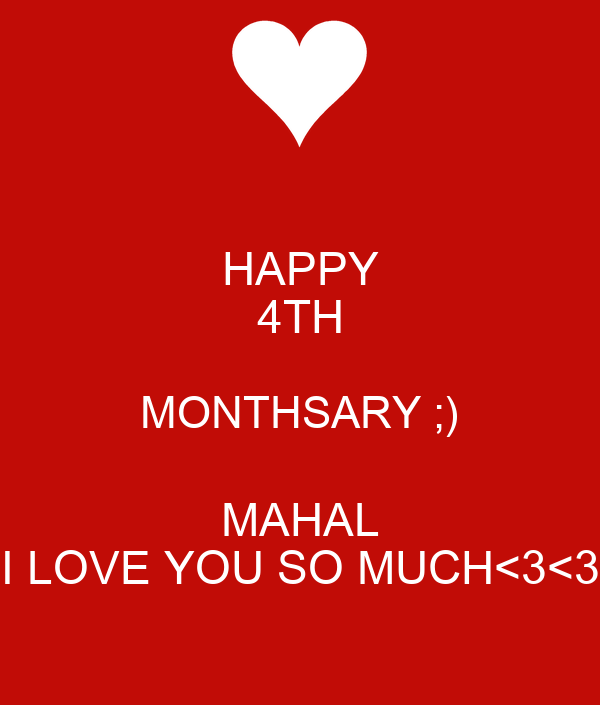 Happy 4th Monthsary Message Images