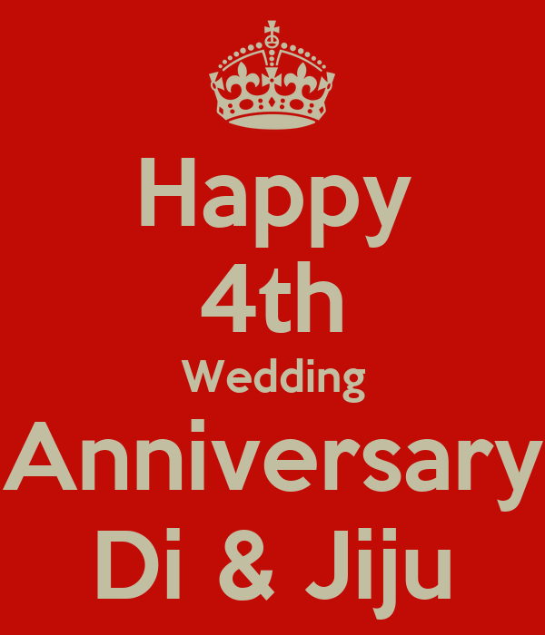 Happy 4th Wedding Anniversary Di Amp Jiju Poster