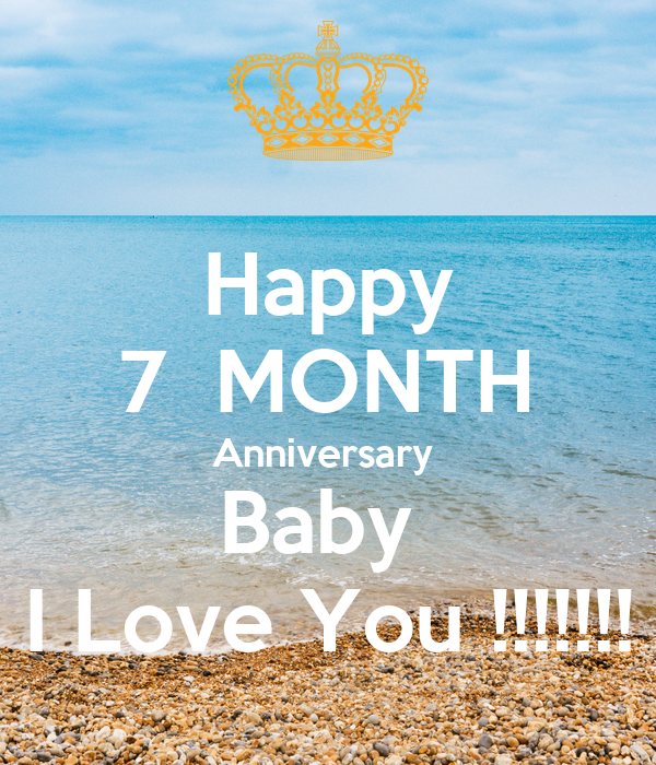 Happy month anniversary baby i love you poster