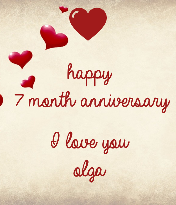 Happy month anniversary i love you olga poster laz