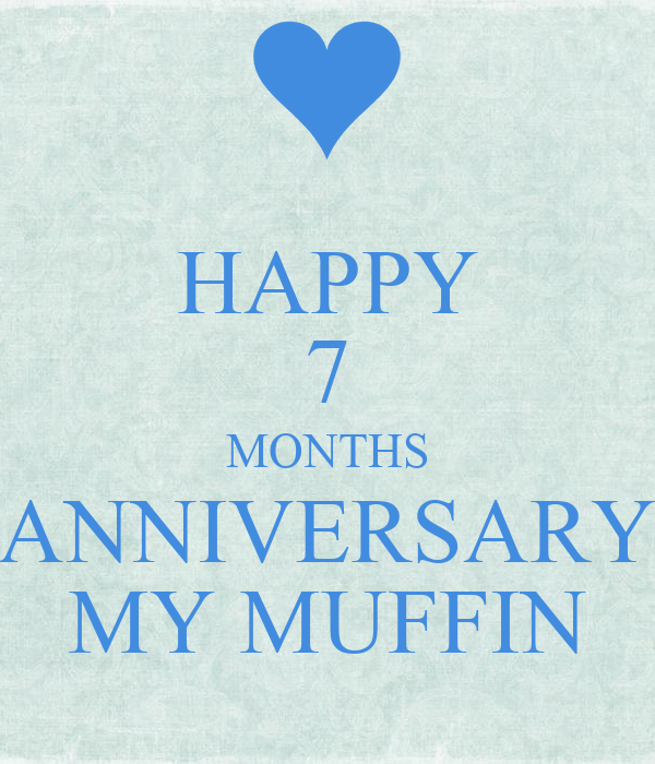 Happy months anniversary my muffin poster lisa keep