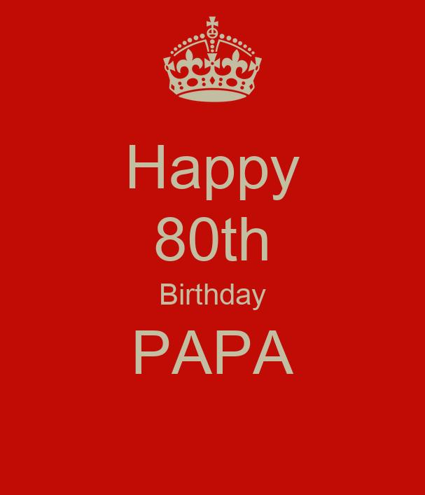 Happy 80th Birthday PAPA Poster