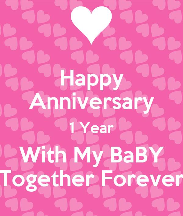happy anniversary to my baby