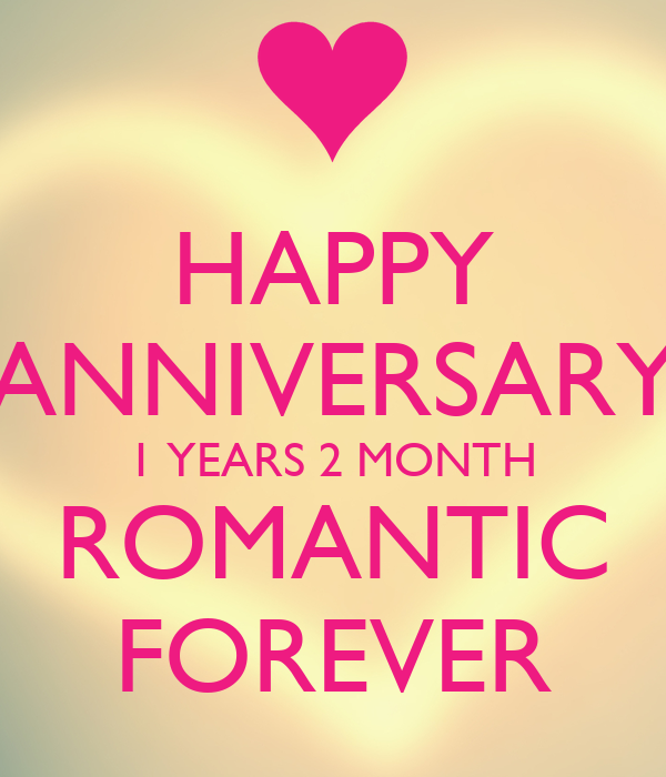 happy anniversary 1 years 2 month romantic forever poster 70413