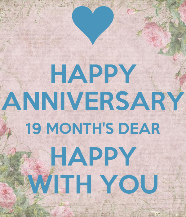 Happy anniversary month s dear with you poster