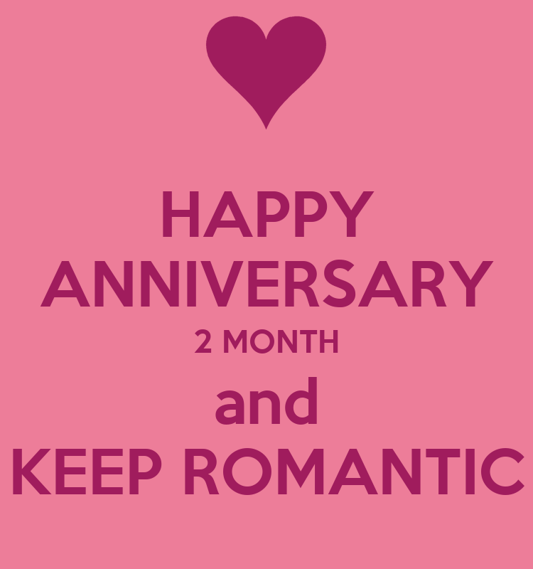 Happy anniversary month and keep romantic poster