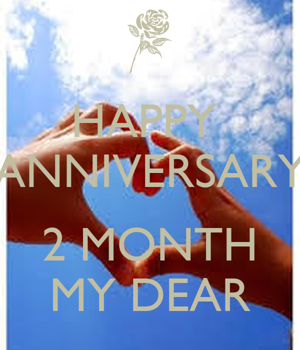 Happy anniversary month my dear keep calm and carry on