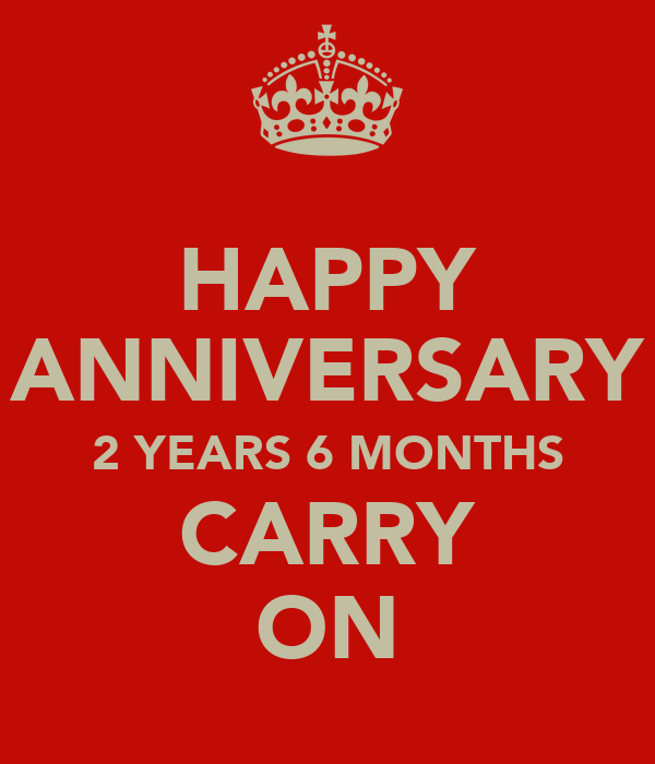 Happy anniversary years months carry on keep calm