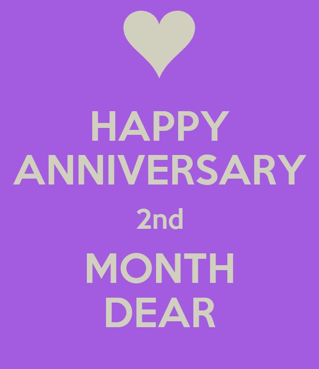 Happy anniversary nd month dear poster anggun keep